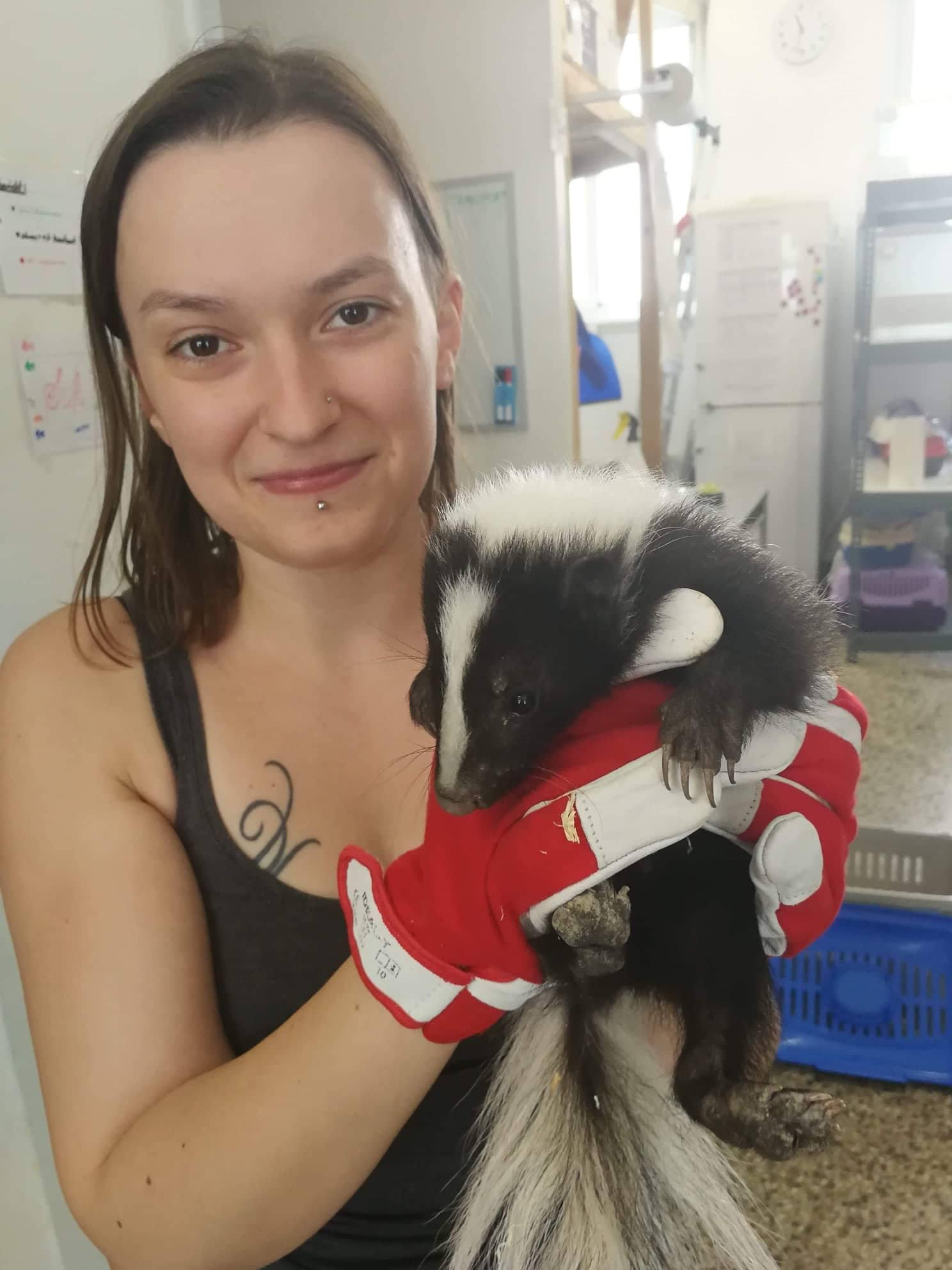 Stefanie Riegler, Tierpflege